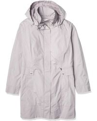 Cole Haan Packable Hooded Rain Jacket With Bow - Gray