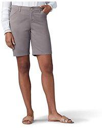 Lee Jeans Regular Fit Chino Bermuda Short - Gray