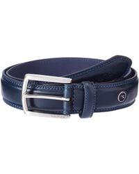 Nautica Belt With Dress Buckle And Stitch Comfort-navy - Blue