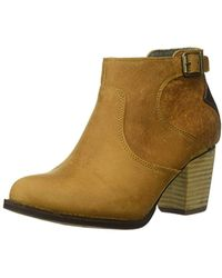 Caterpillar - Trestle Waterproof Leather Bootie With Side Zip Abd Stacked Heel Ankle Boot - Lyst