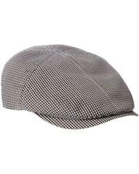 ad94d6004f48a Stetson Kent Wool Ear Flap Cap in Gray for Men - Lyst