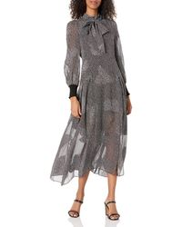 Rebecca Taylor Sleeve Long Meadow Dress - Black
