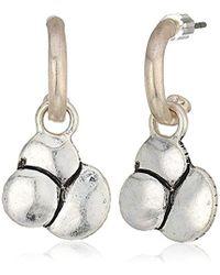 The Sak - Layered Hoop Drop Earrings - Lyst