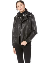 Steve Madden Moto Faux-leather Jacket - Black