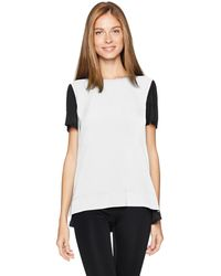 Jones New York Womens Half-Sleeve Colorblock Shirt