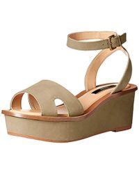 4abd6d2e77d0 Lyst - Kensie Boston Snake-print Platform Sandals