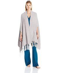 N Natori - Chenille Blanket Shawl With Fringe - Lyst