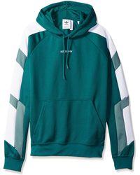 adidas Originals Eqt Color Block Hoodie - Green