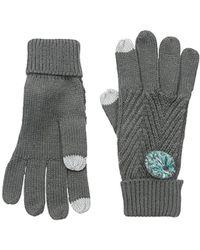 Keds Knit Gloves With Pom - Gray
