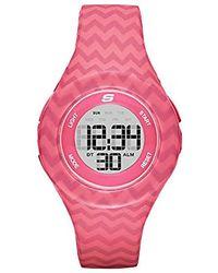 Skechers - Spreckles Digital Silicone Chronograph Watch, Color: Pink Chevron (model: Sr6108) - Lyst