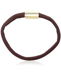 Kenneth Cole - Brown & Gold Charm Tie Hair Accessory, One Size - Lyst