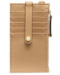 Calvin Klein Saffiano Card Case Wristlet - Multicolor