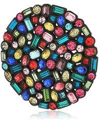 "Trina Turk ""confetti And Cocktails"" Multi Color Stone Disc Brooches And - Multicolor"
