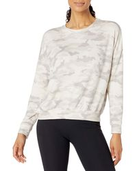 Core 10 Soft Cotton French Terry Crew-neck Long-sleeve - White