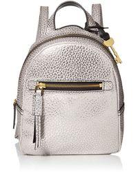 Fossil Megan Leather Mini Backpack Handbag - Multicolor