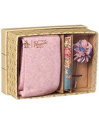 Original Penguin Messner 3-piece Solid Tie, Pocket Square & Lapel Pin Box - Pink