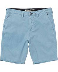 Billabong New Order X Overdye Submersibles Shorts - Blue