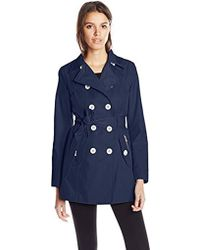 Jessica Simpson Double-breasted Raincoat - Blue