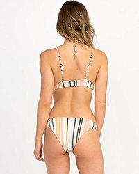 RVCA - Horizon Stripe Reversible Medium Bikini Bottom - Lyst