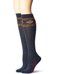 Wrangler Ladies Horse Crew Socks 3 Pair Pack - Gray
