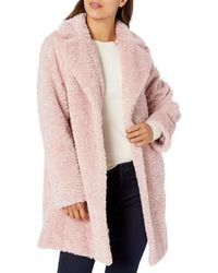 Vince Camuto Chic And Warm Faux Fur Jacket - Pink