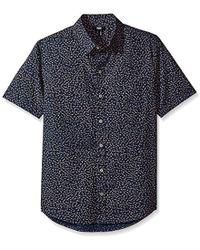 PAIGE - Becker Shirt In Blue Colt - Lyst