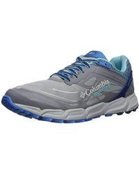 Columbia Caldorado Iii Trail Running Shoe, Earl Gray, Coastal Blue, 5 B Us