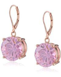 Betsey Johnson - Crystal Drop Earrings - Lyst