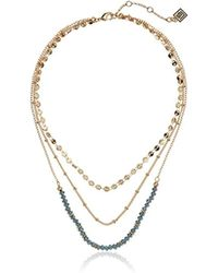 Laundry by Shelli Segal - Layered Bead Necklace, Navy - Lyst