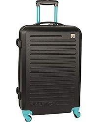 Nautica Hardside Spinner Wheels Luggage-24 Inch Expandable Travel Suitcase - Black