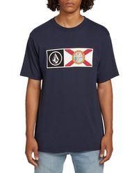 Volcom Florida Pride Short Sleeve Basic Tee - Blue