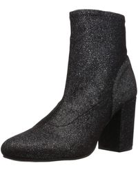 Kenneth Cole Reaction Time For Fun Stretch Material Heeled Ankle Bootie Boot - Black