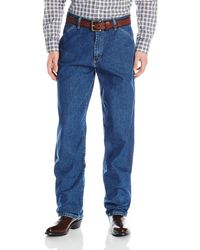 Wrangler Genuine Carpenter Fit Jean,stone Washed,36x30 - Blue
