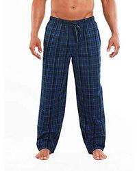 Perry Ellis Woven Sleep Pant - Blue