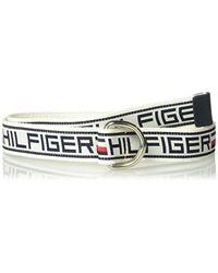 Tommy Hilfiger Military Style Web Belt - White