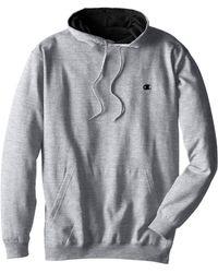 Champion Big-tall Fleece Pullover Hoodie - Gray
