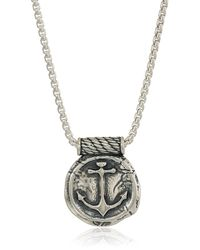 ALEX AND ANI Anchor 32-inch Pendant Necklace - Metallic
