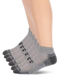 Skechers 6 Pack Quarter Crew Socks - Gray