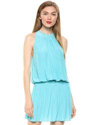Ramy Brook Paris Sleeveless Mini Dress - Blue