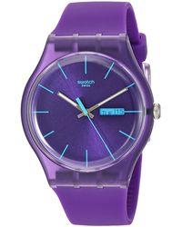 Swatch Lässige Uhr SUOV702 - Lila