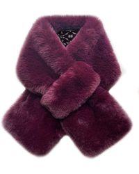 Laundry by Shelli Segal Faux Fur Scarf - Purple