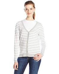 Dockers V-neck Cardigan Sweater - Gray