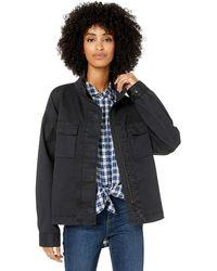 Goodthreads Cropped Utility Jacket outerwear-jackets - Negro