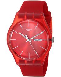 Swatch Armbanduhr Red Rebel Analog Quarz SUOR701 - Rot