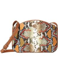 Anne Klein Triple Compartment Crossbody Bag - Natural