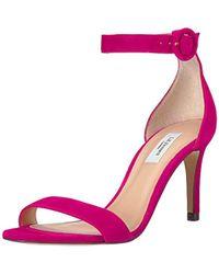 L.K.Bennett Dora Heeled Sandal Power Pink, 40.5 Medium Uk (10 Us)