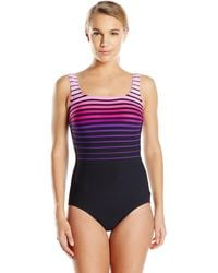 Reebok Shining Sea One-piece Swimsuit - Pink