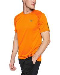 Peak Velocity Channel-knit Performance Short Sleeve Quick-dry Athletic-fit Run - Orange