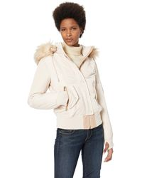 Vince Camuto Puffer Down Bomber - Natural