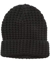 French Connection - Waffle Knit Willow Palm Beanie - Lyst